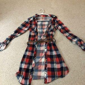 Flannel dress super cute